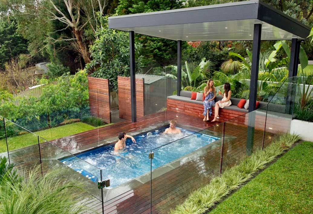 Large In Ground Hot Tub Backyard Garden Ideas Home Design Hot Tub Backyard Swim Spa Landscaping Hot Tub Landscaping