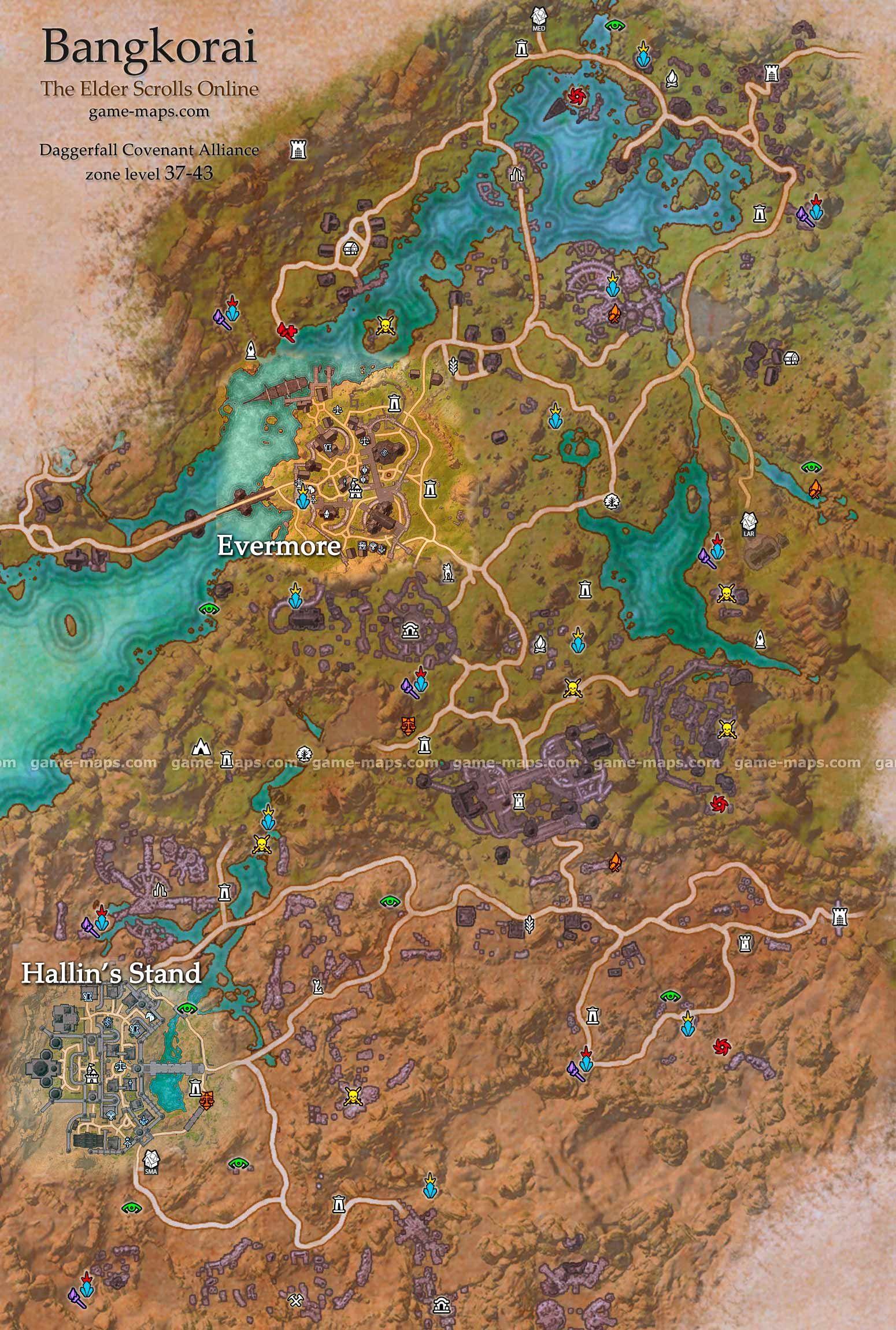 on daggerfall map