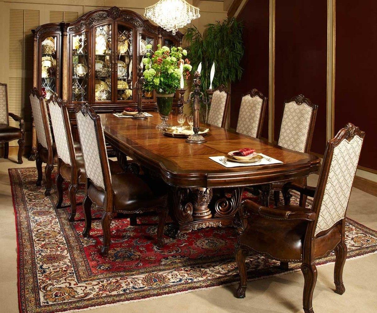 Michael Amini Victoria Palace Rectangular Table Dining Set ...