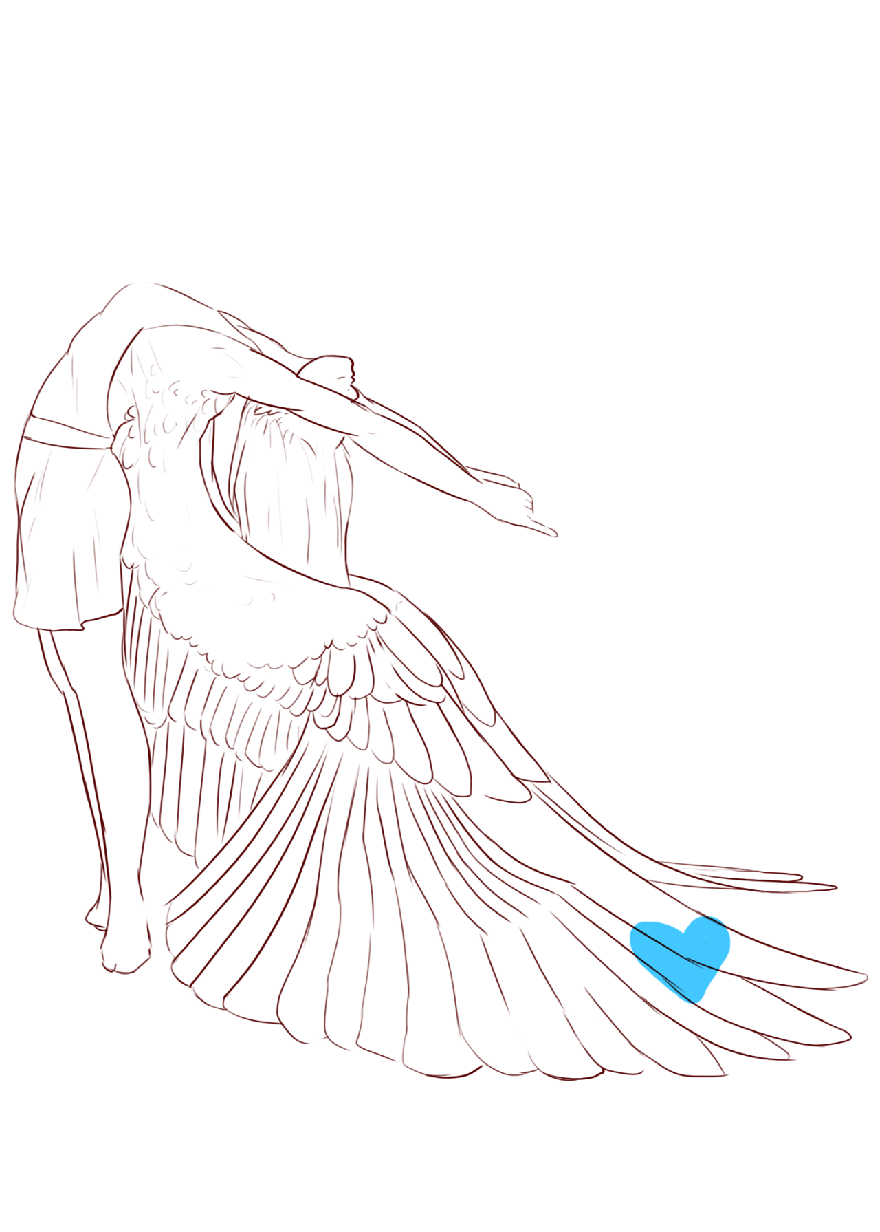 Photo of for feathers great and small — scribbly-blue-hearts:  Old stretching and posing…
