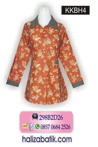 baju batik kantor wanita, jual batik online, desain baju ...