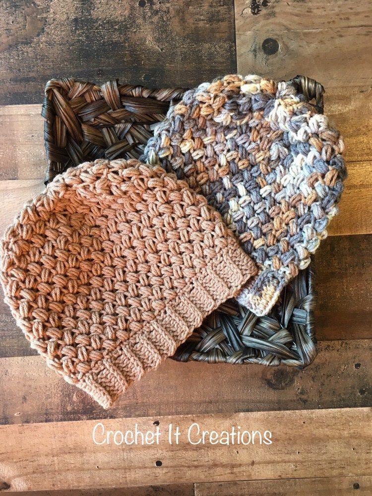 Coffee Bean Slouchy Beanie Crochet Pattern by | knitting | Pinterest ...