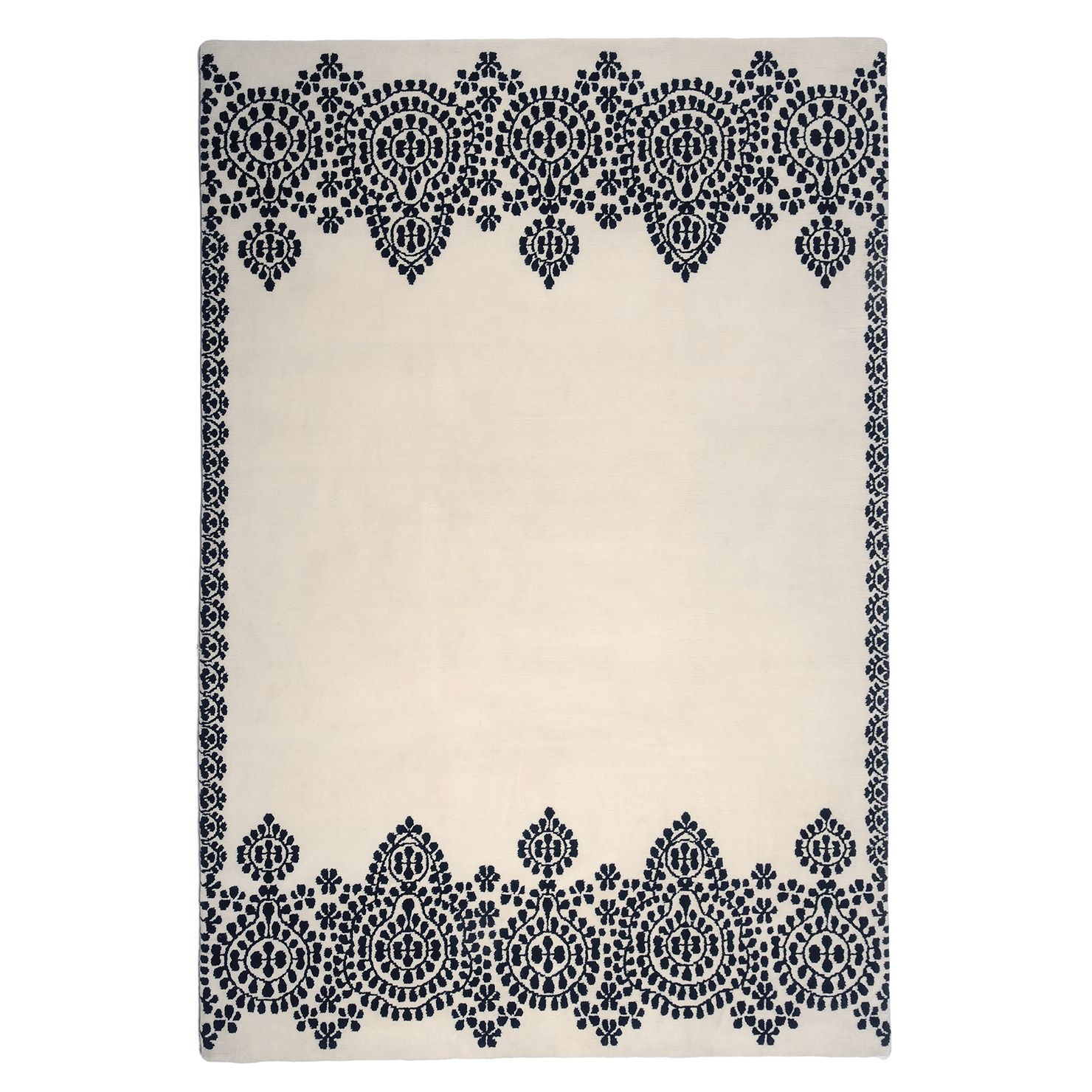 Moroccan Hand Knotted Wool Rug | ACHICA