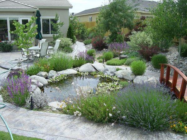 gartengestaltung beispiele teich garden water features. Black Bedroom Furniture Sets. Home Design Ideas