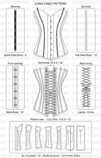 corset patroon google zoeken technik pinterest korsett schnittmuster schnittmuster und. Black Bedroom Furniture Sets. Home Design Ideas