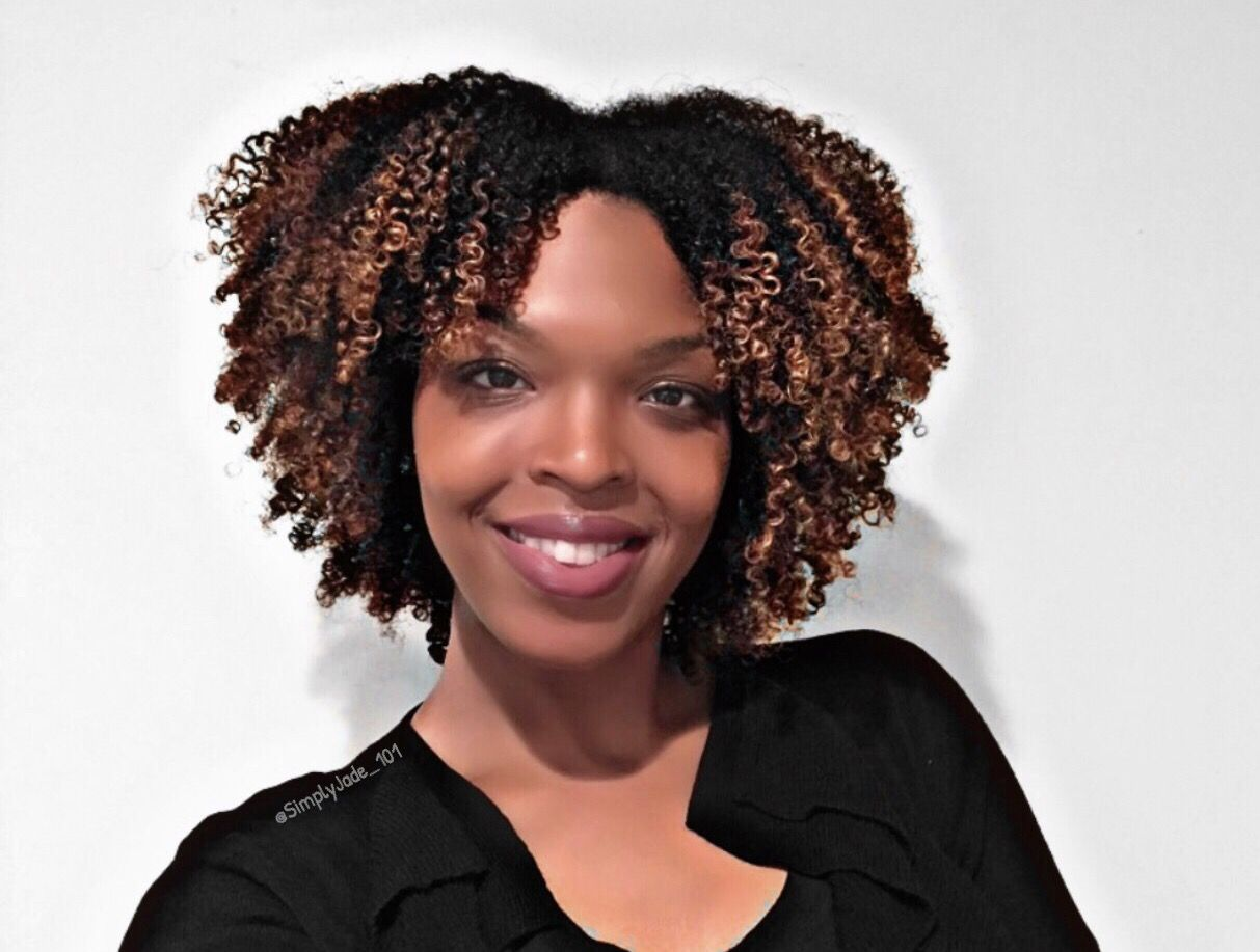 wash n go on 4b natural hair with blonde color highlights