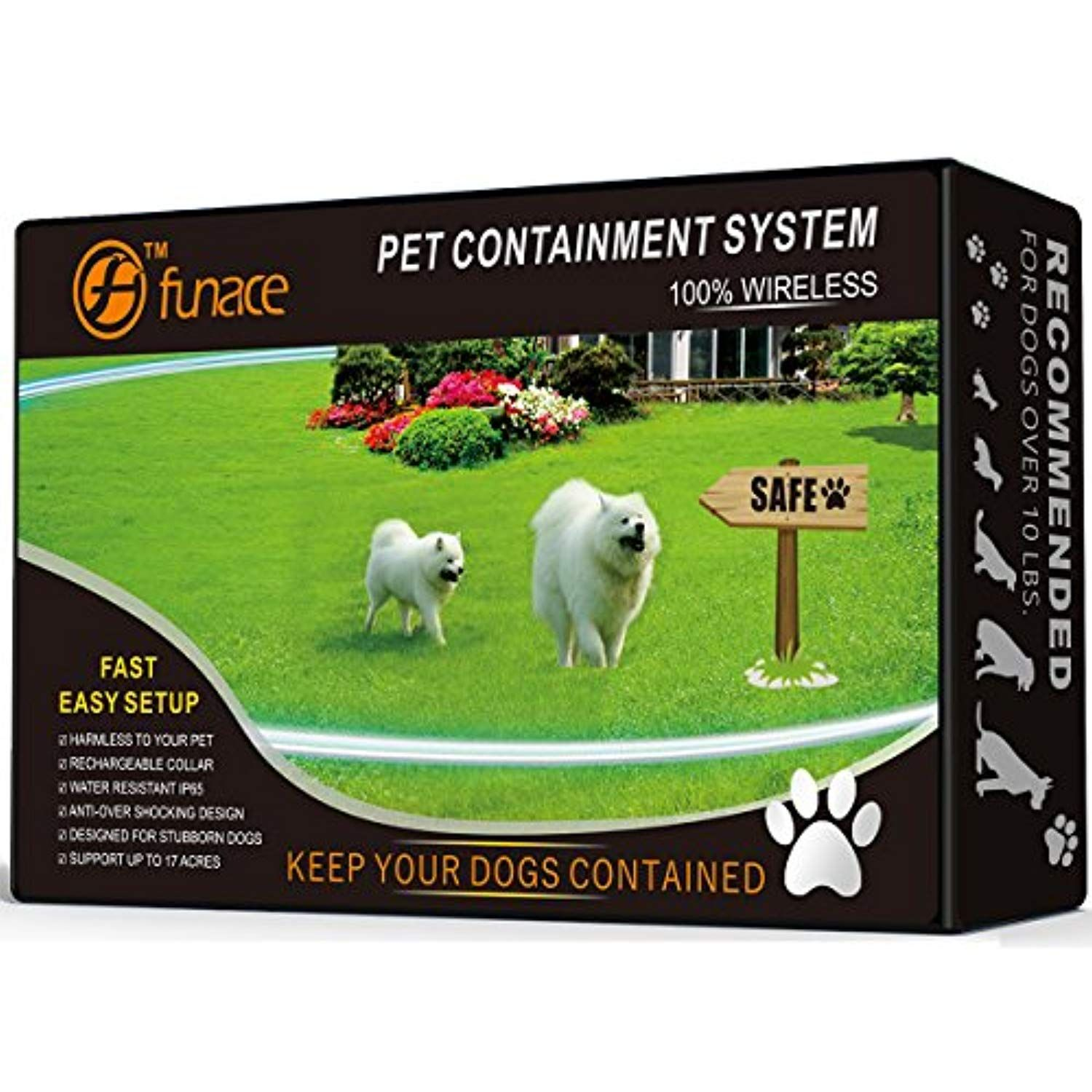 100 Wireless Pet Containment System Wifi Radio Dog Fence No Wire No Dig No Bury Rechargeable And Pet Containment Systems Dog Fence Wireless Dog Fence