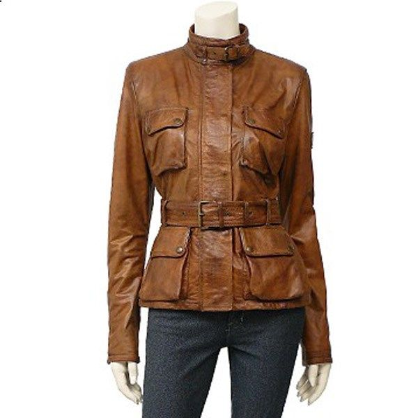 Womens Belstaff Triumph Leather Jackets Brown AFR