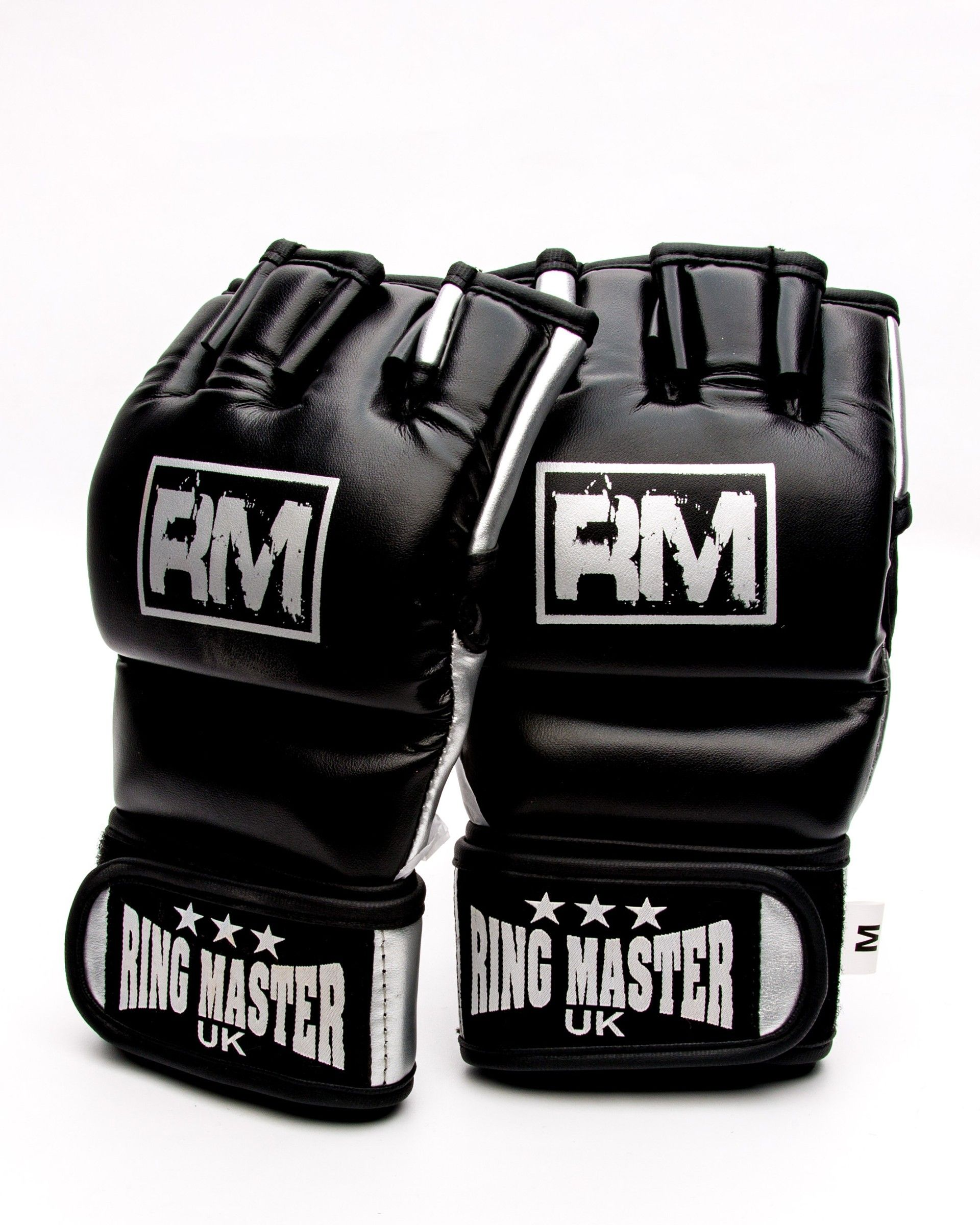 Mma Gloves Synthetic Leather Black And Silver Mma Training Boxing Gloves Womens Mma Gloves