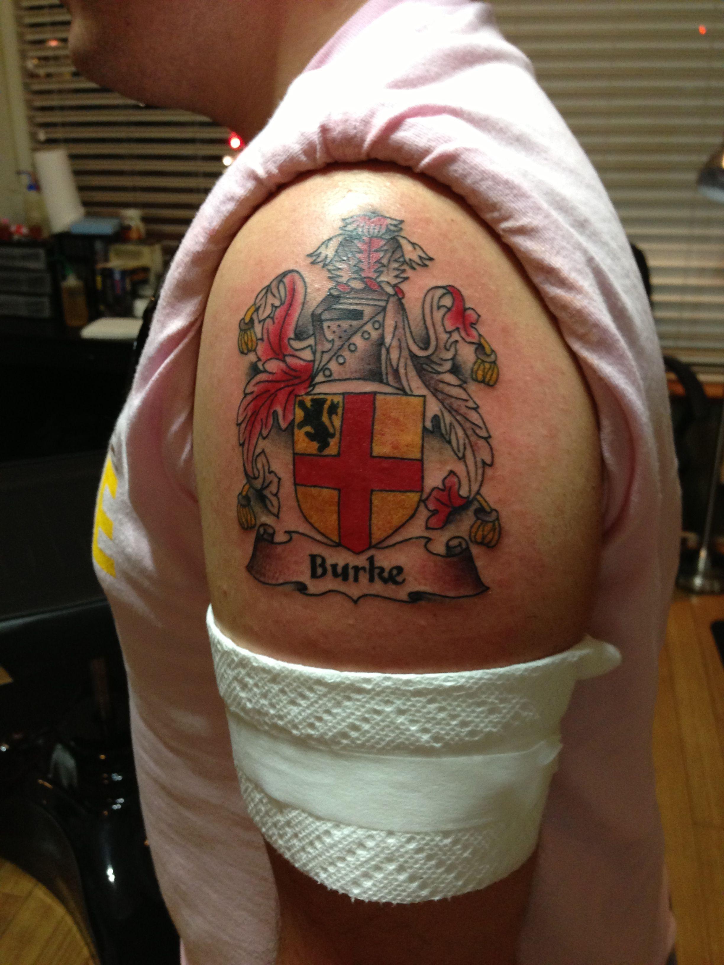 714ccf106 My new #tattoo Coat of Arms #tattoo #tattoos #ink #family #crest  #coatofarms #heraldry #genealogy #shield