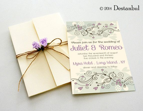 Blüte (lila) Hochzeit Einladung Vorlage - sofort-DOWNLOAD ...