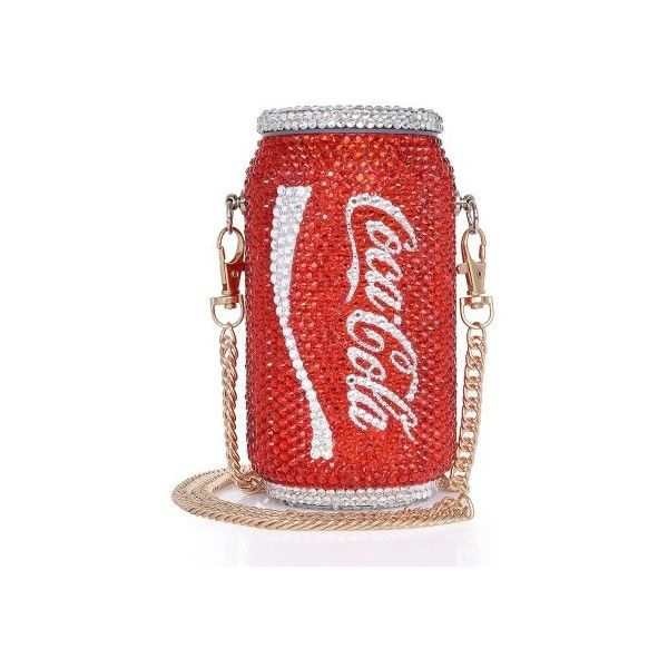 Classic Cola Clutch ❤ liked on Polyvore featuring bags, handbags, clutches, red handbags, red clutches and red purse