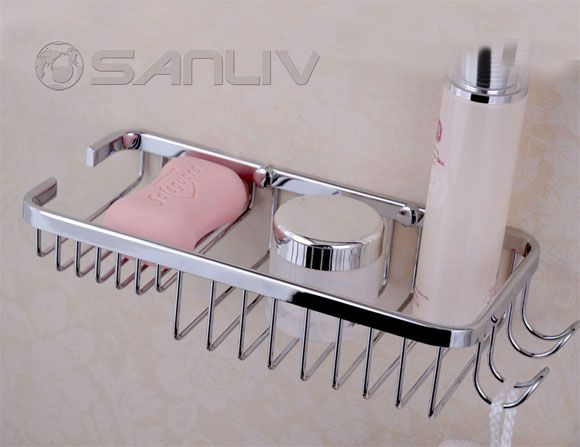 Shower Bottle Shelf And Sponge Holder
