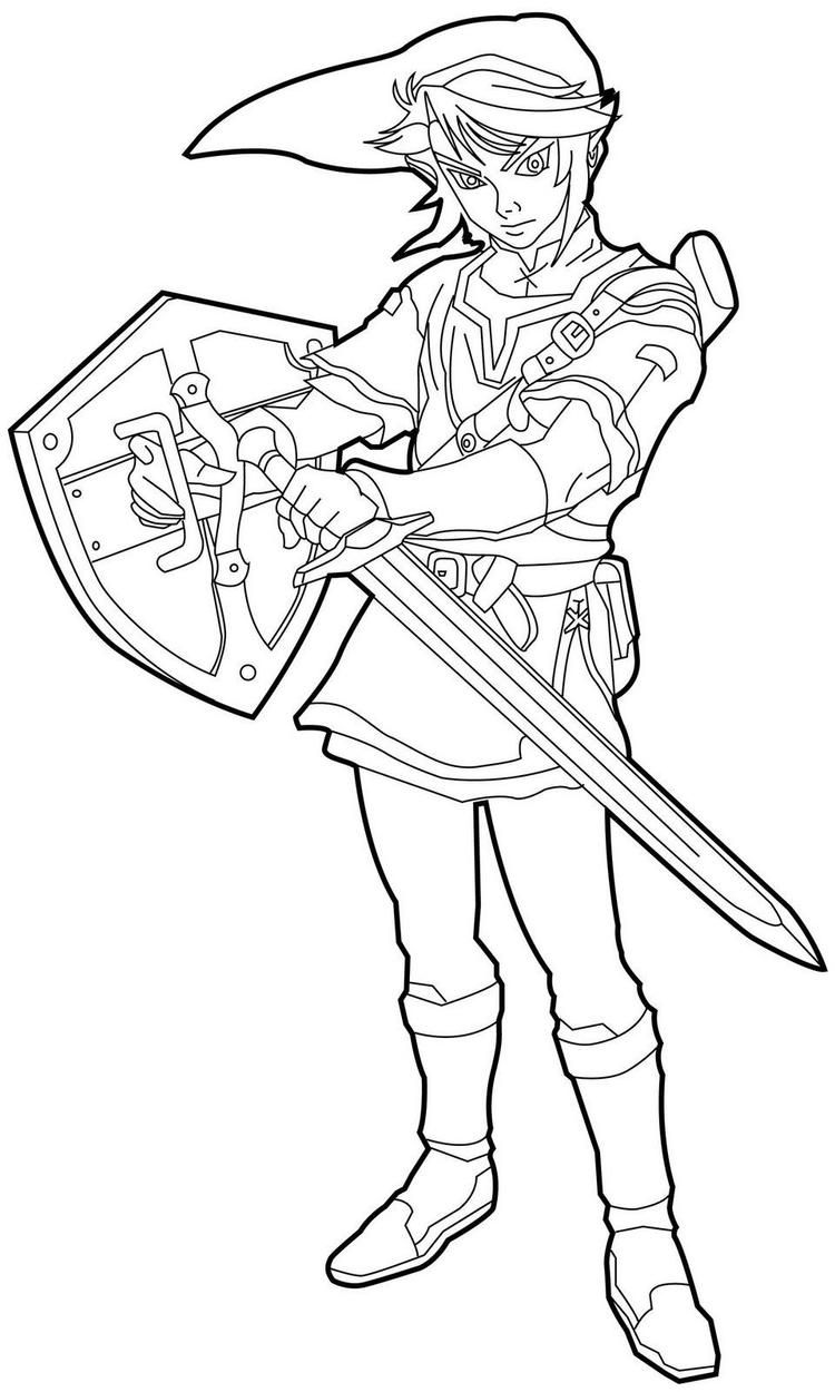 Zelda Coloring Pages Link With Sword Coloring Pages For Kids Baby Coloring Pages Coloring Pages Inspirational