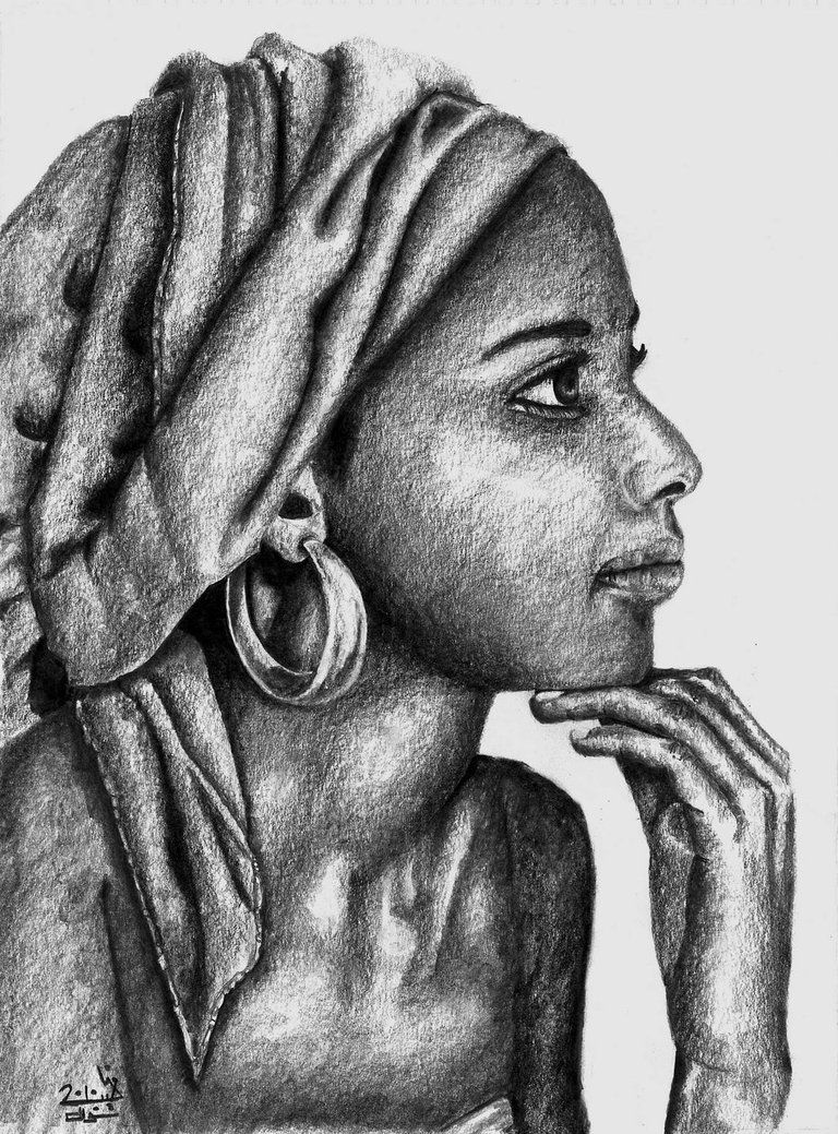 African Art Traditional Girl Pencil