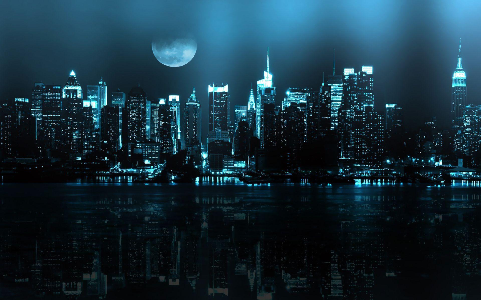 Dark Newyork City Wallpaper Hd Wallpapers 1080p Download In 2020 Cityscape Wallpaper Cool Desktop Backgrounds City Wallpaper