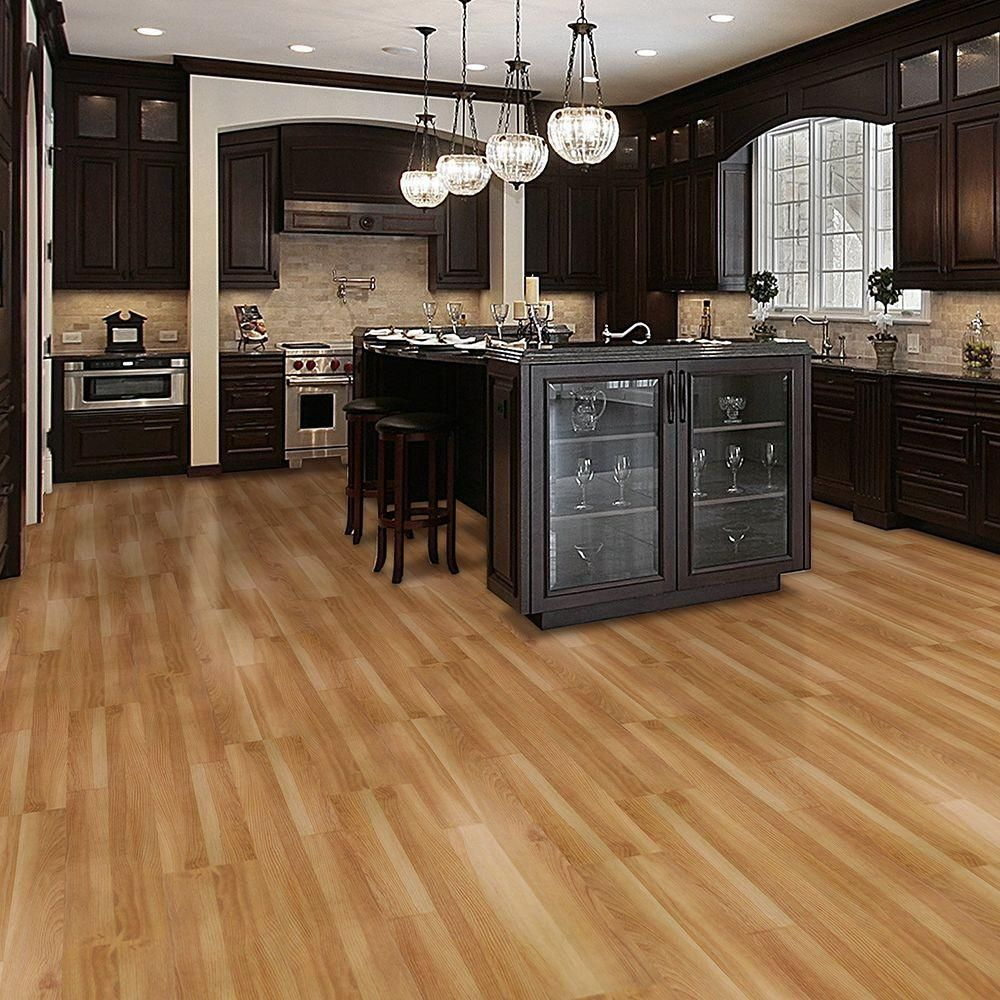Trafficmaster allure ultra 7 5 in x 47 6 in 2 strip for Vinyl kitchen flooring