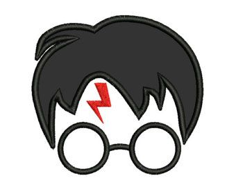 Harry potter applique machine embroidery design instant
