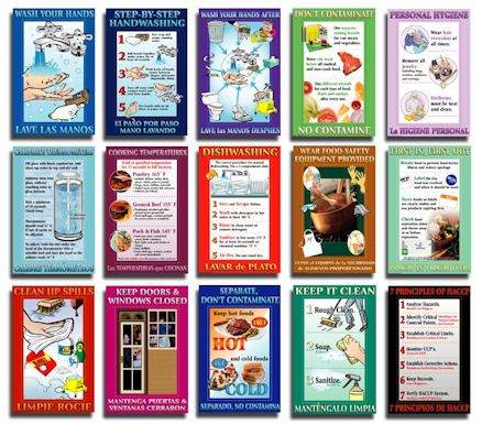 Free Food Safety Posters Atlantic Publishing Company Culinary