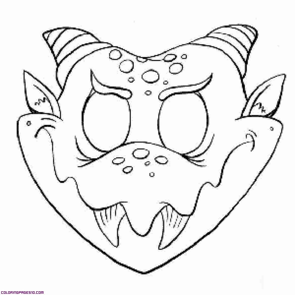 Monster Mask Halloween Masks Monster Mask Halloween Coloring
