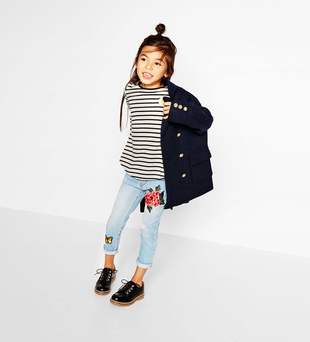 Image 1 of Patch jeans from Zara Moda infantil para