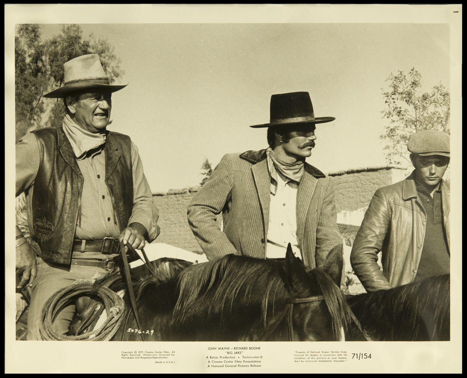 Big Jake with John Wayne and Patrick Wayne. Great genes