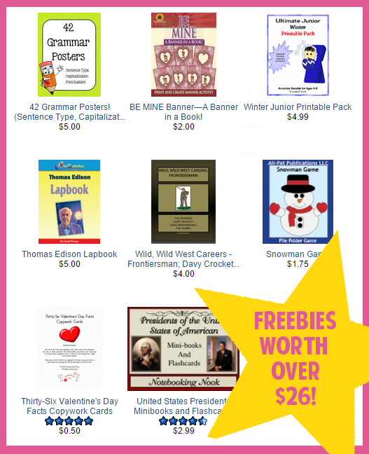 Eight Homeschool Freebies from Currclick