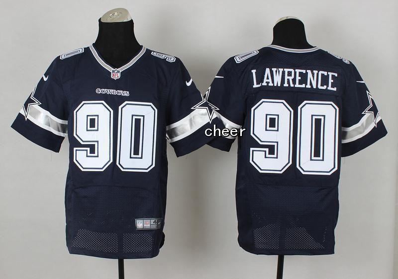 nike cowboys demarcus lawrence navy blue team color mens stitched nfl elite jersey and cardinals kurt warner jersey