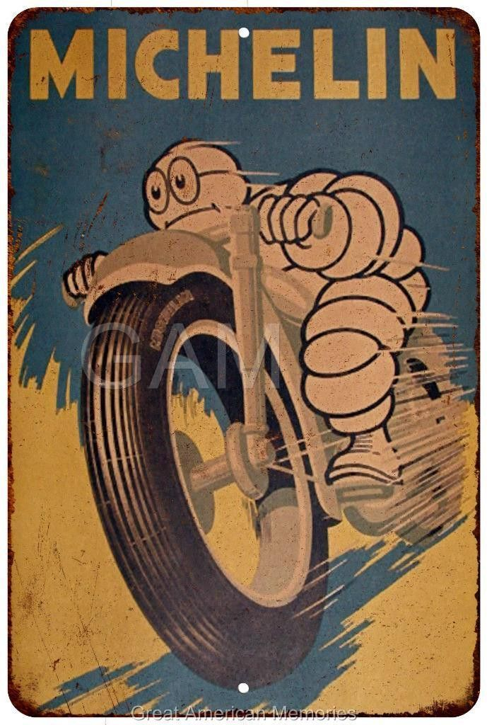Michelin Tires Vintage Look Reproduction 8x12 Metal Sign 8120821 ...