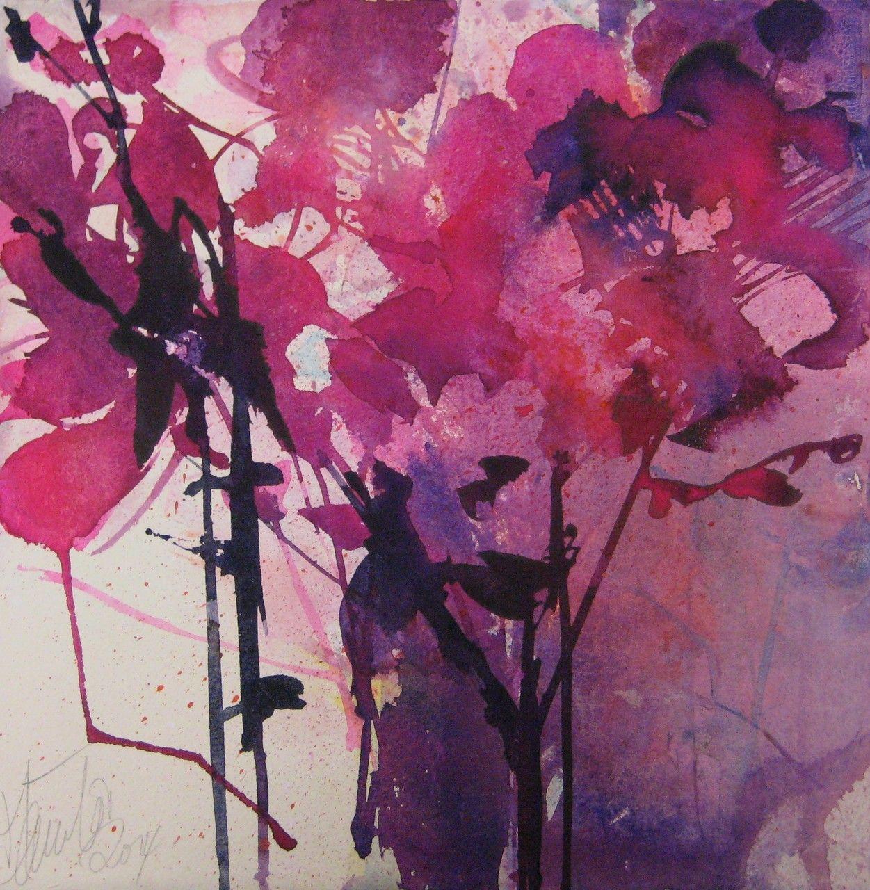 Blumen Elke Memmler Watercolor Jd Bloemen Aquarel Aquarel
