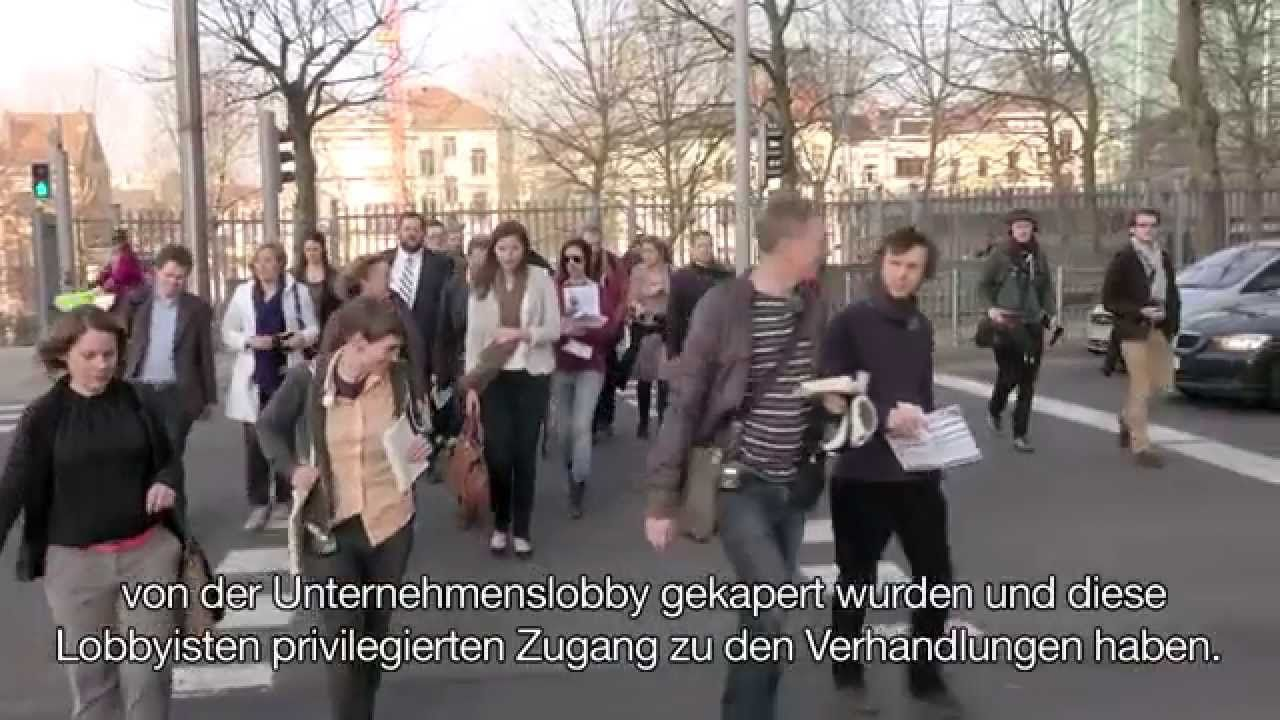 "Im Brüsseler Lobby-Dschungel: Lobbyismus während der TTIP-Verhandlungen - ""Where they ban Basic Rights and Net Neutrality - instead of lobbycontrol - they also ban Democracy at the end"" ... (dali48, 2013)"