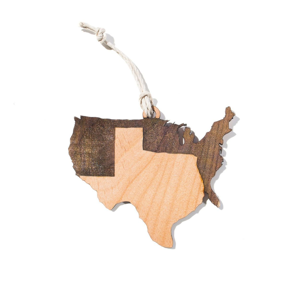 The Correct Map Christmas Ornament from Texas Humor Store