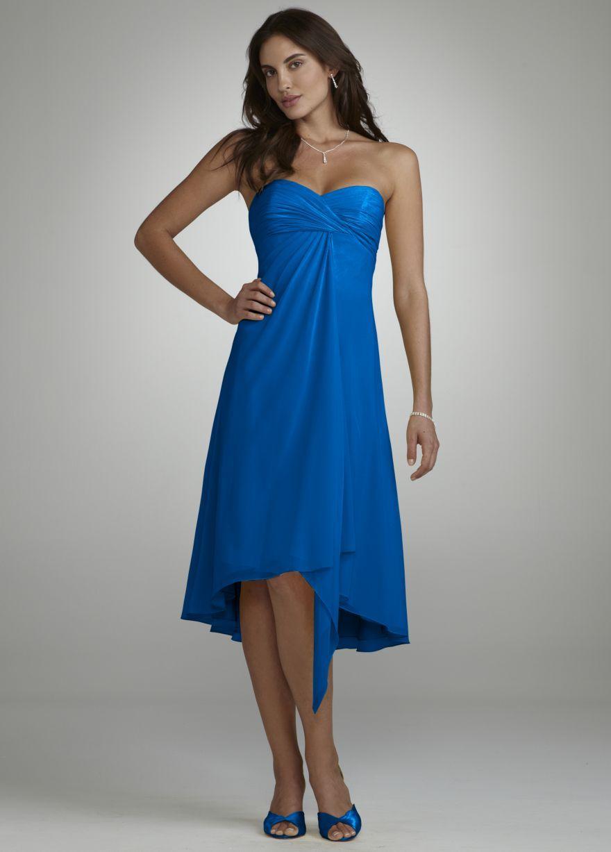 Bridesmaid Dress...Strapless Chiffon Short Dress Style F12284 ...