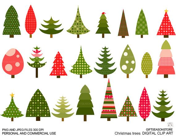 Christmas Tree Clip Art For Personal And Commercial Use Etsy Christmas Tree Wallpaper Christmas Tree Clipart Christmas Clipart Free