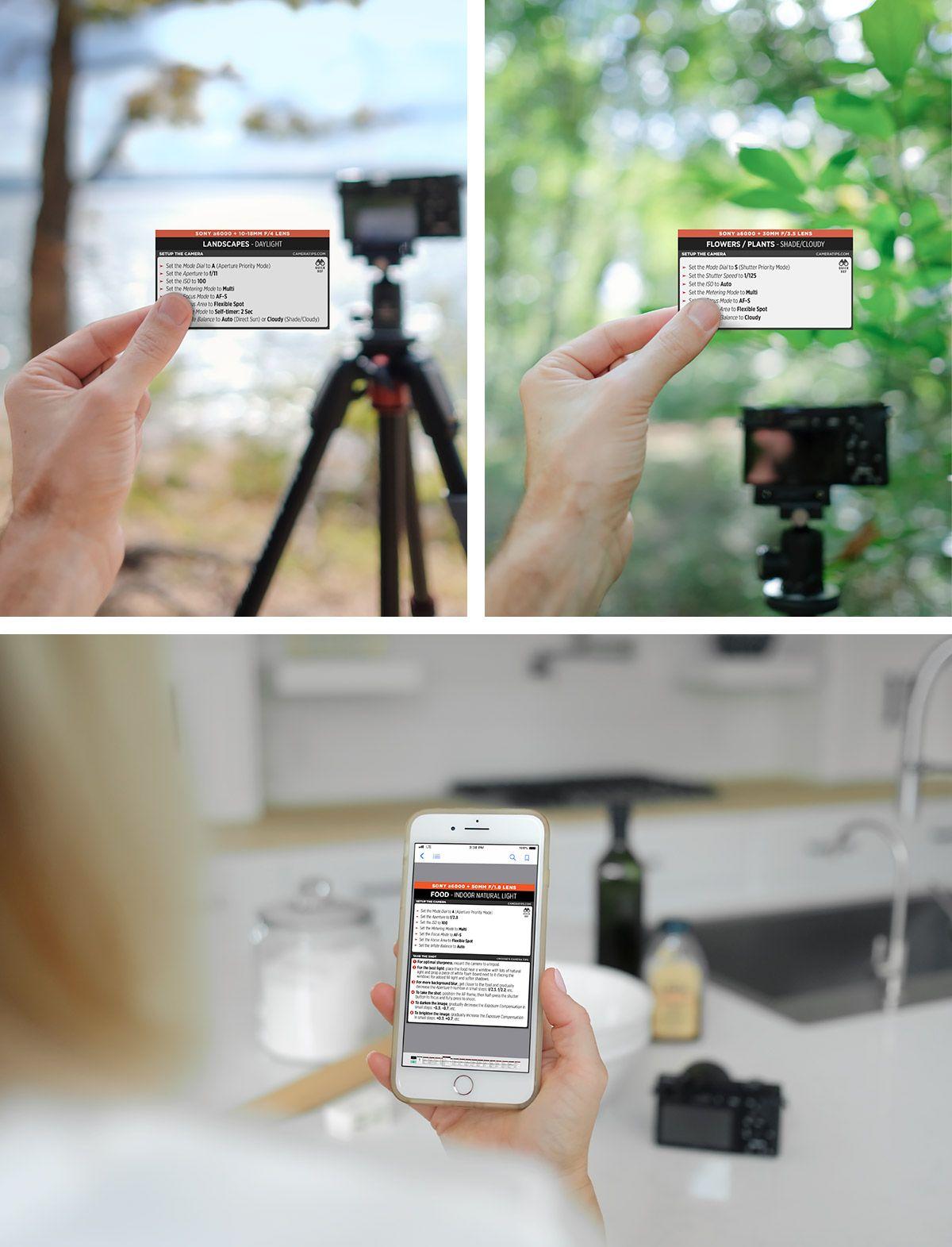 Sony A6000 Cheat Sheet Camera Hacks Camera Nikon Photography Cheat Sheets