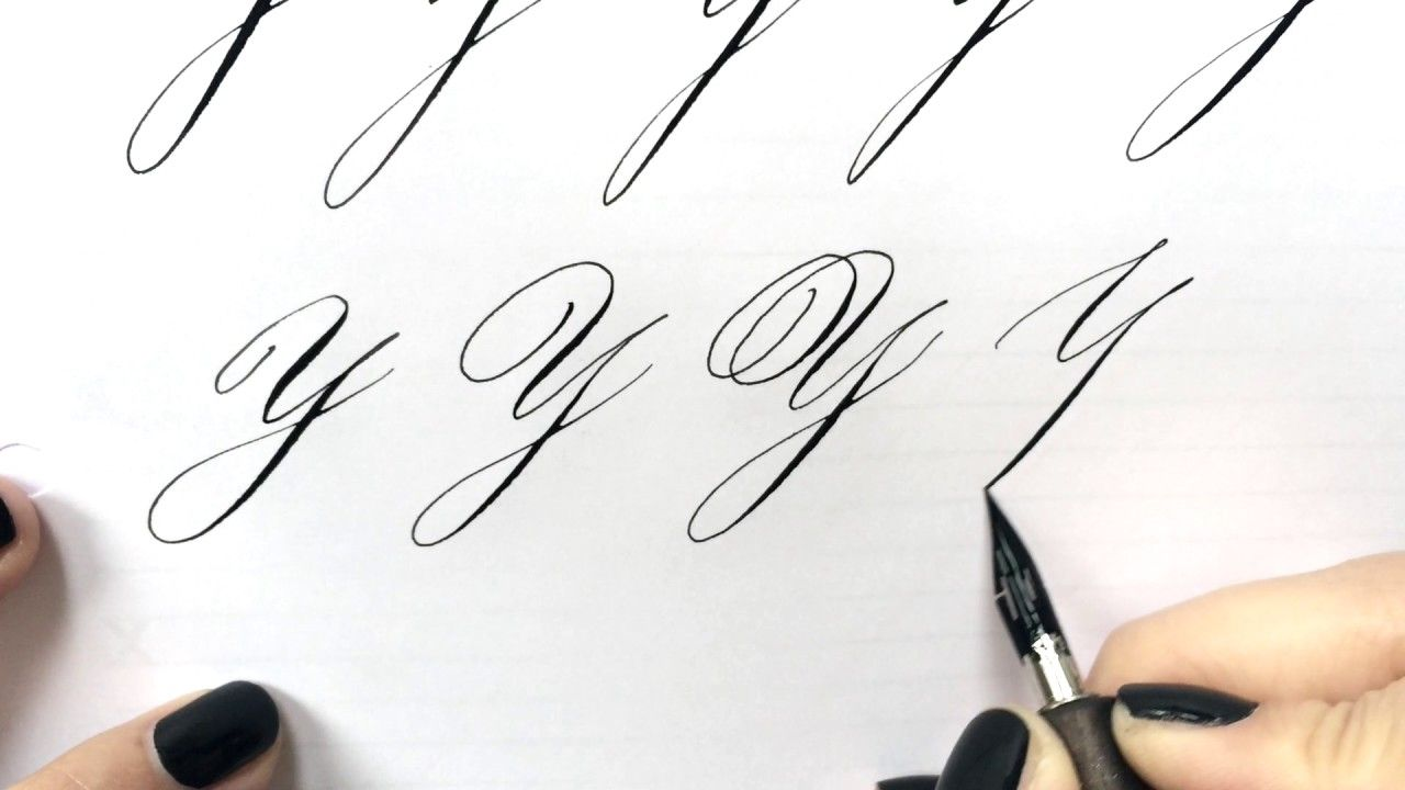 Modern Calligraphy Letter Y Modern Calligraphy Calligraphy Letters Sumi Ink