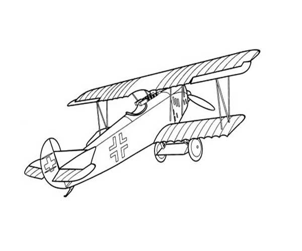 Airplane Coloring Pages To Print For Free http