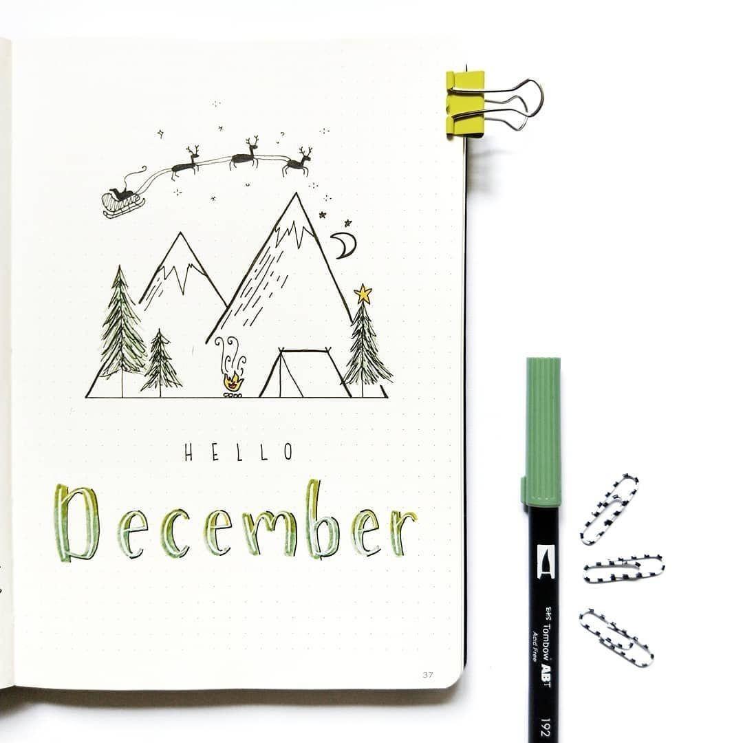 "Featuring Amazing BuJos on Instagram: ""Reposting @jade_journals:⠀ ...⠀ Hello December"