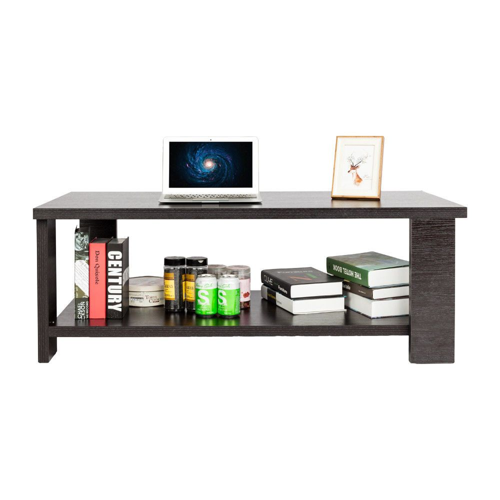 Morden coffee table and end table wood livingroom tea desk new