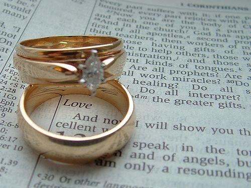 wedding rings on bible scripture Wedding Ideas Pinterest