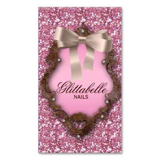 Cute glitter nail salon business card nail salons glitter nails cute glitter nail salon business card colourmoves