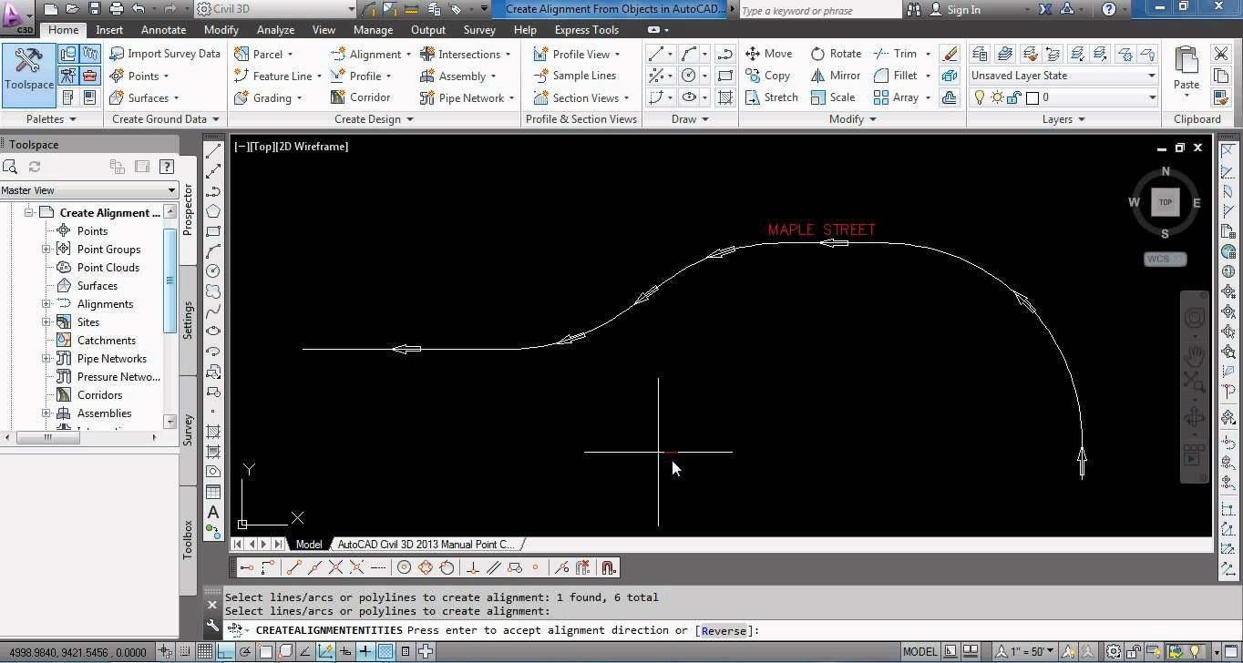 Create Alignment From Objects in AutoCAD Civil 3D | digital