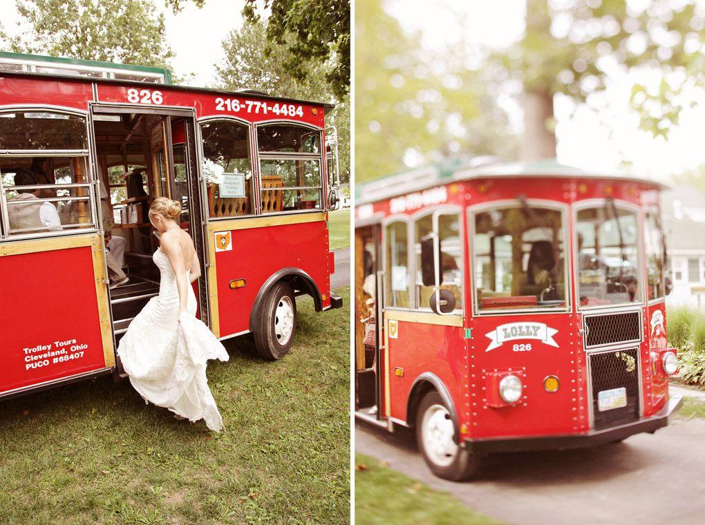 Lolly the Trolley Wedding transportation, Ohio, Wedding