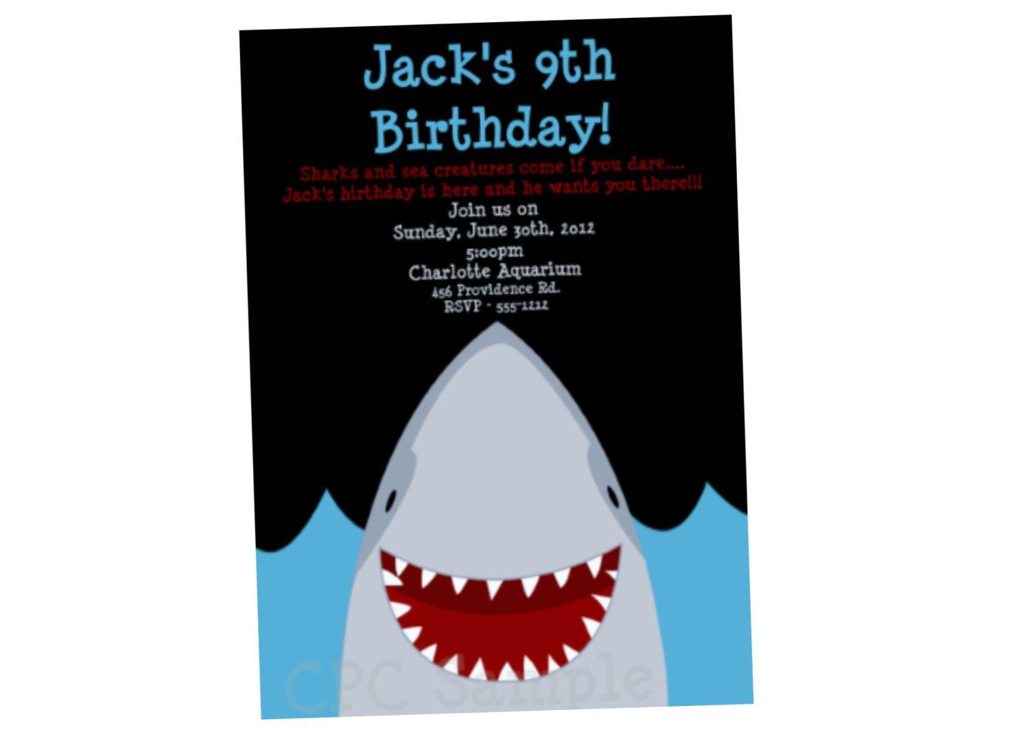 Shark Birthday Invitation Party Boy Or Girl Printable 1500 Via Etsy