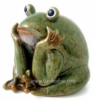 Ceramic Frog Statue Garden Thinker Only 3895 At Garden Fun