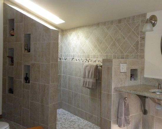 Doorless Shower Design, Pictures, Remodel, Decor And Ideas Part 66