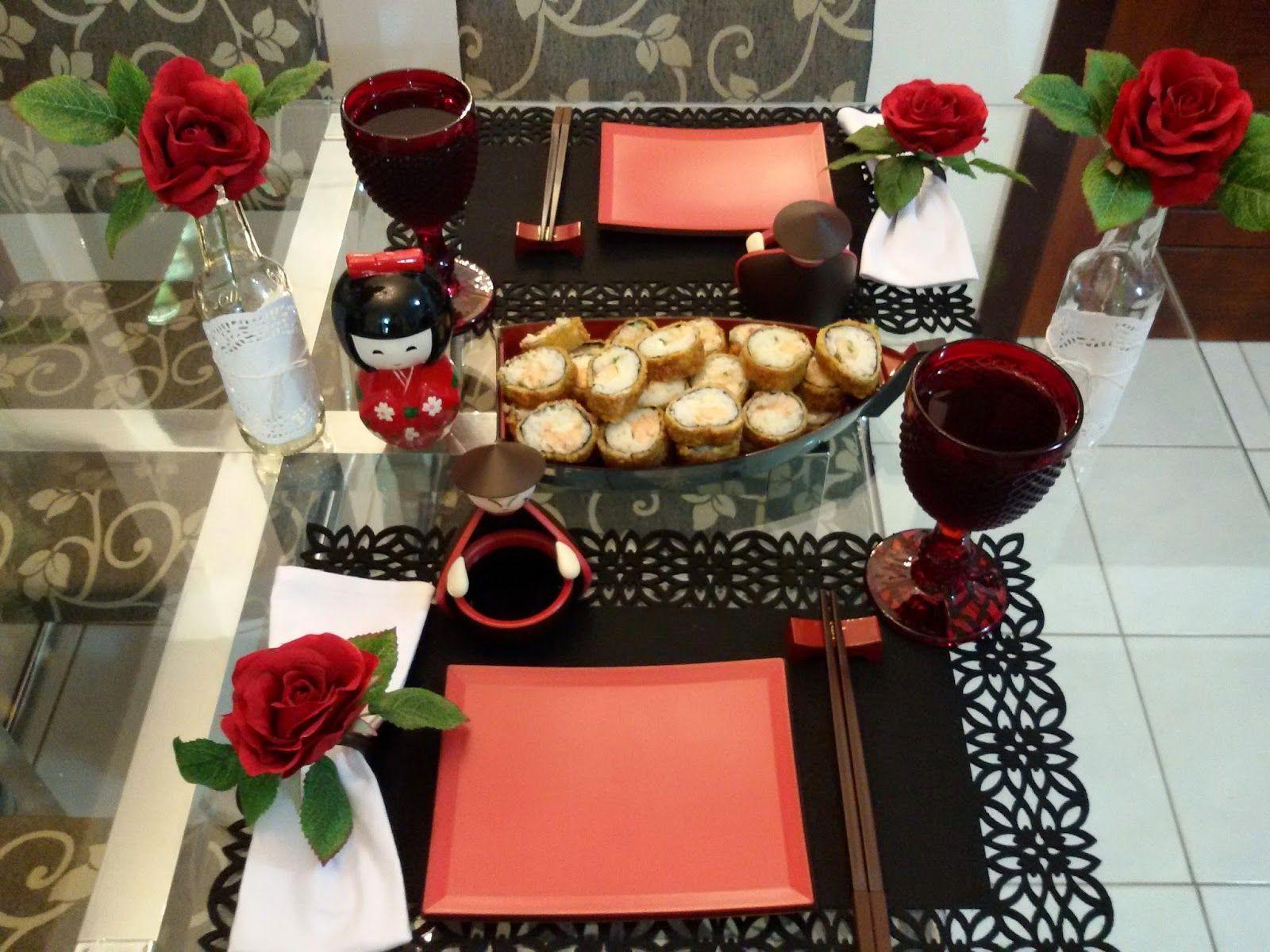 Decor mesa de comida japonesa pesquisa google jantar for Mesa japonesa tradicional