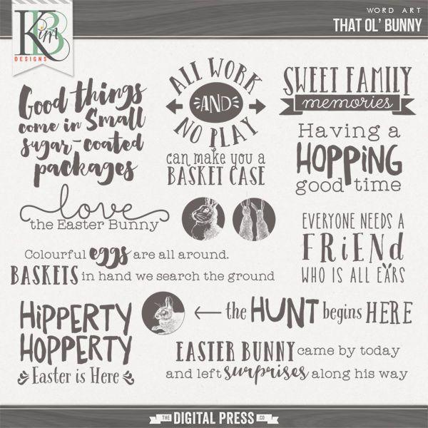That Ol' Bunny : Word Art