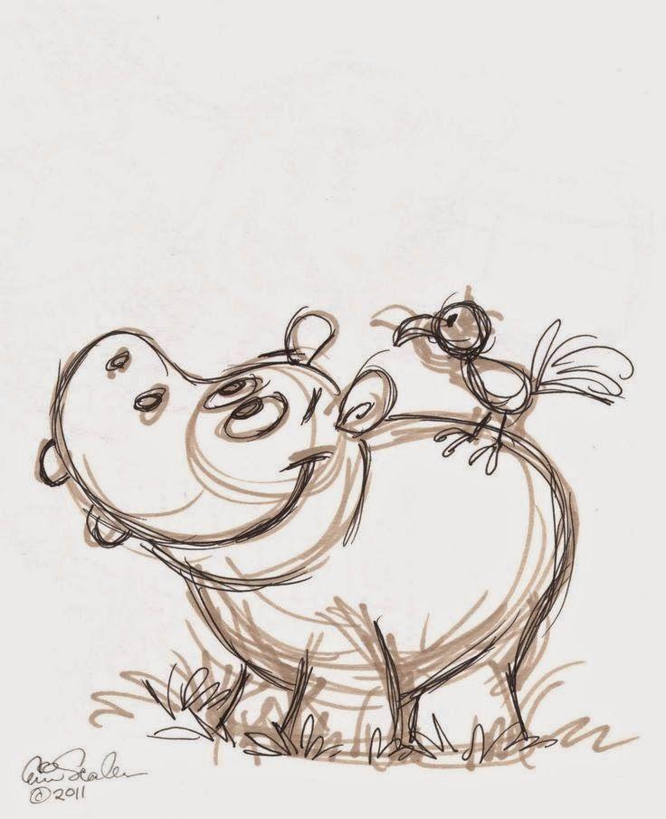 Картинки нарисованные карандашом прикольных животных