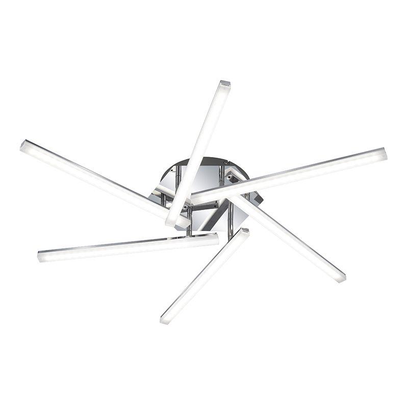 Moderne runde Deckenleuchte Chrom inkl LED - Sandro Jetzt bestellen